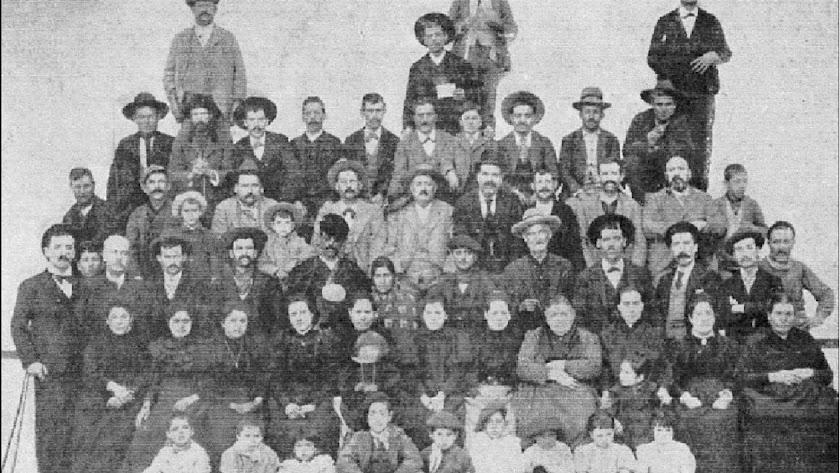 Agraciados por la lotería en 1896.
