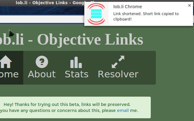 lob.li link shortener