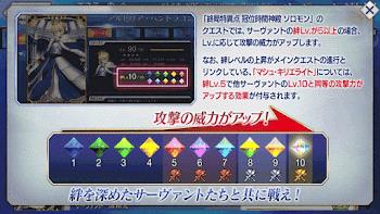 終局特異点_絆Lvによる攻撃力アップの説明