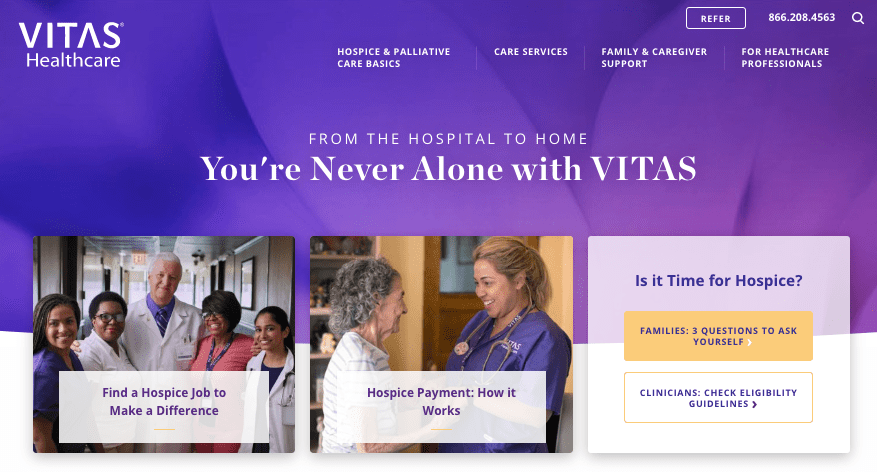 VITAS Healthcare adopted Invoca's AI-powered call tracking and analytics platform to gain a better understanding of what's happening on calls to boost marketing ROI and help provide superior patient care.
