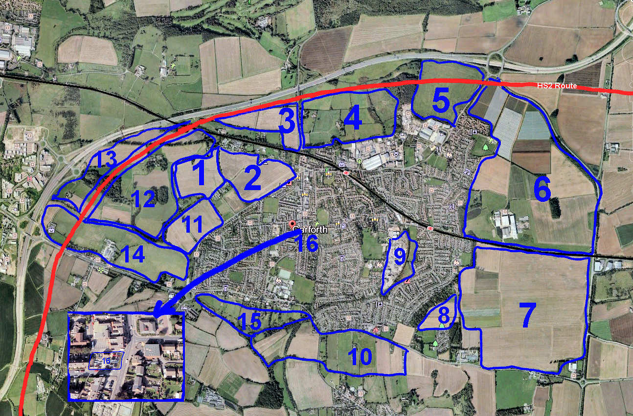 Sixteen areas of potential develoment. What would you like each of these areas to be used for?