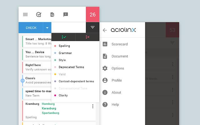 Acrolinx for Chrome
