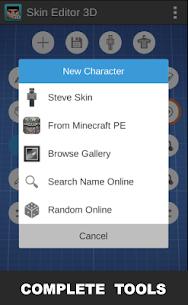 Skin Editor 3D for Minecraft 1.7 Mod + APK + Data UPDATED 3