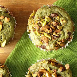 Pistachio Green Tea Muffins.