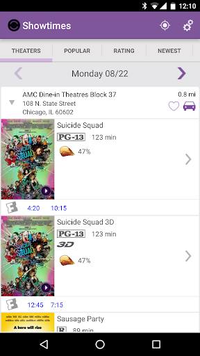 Showtimes (Local Movie Times and Tickets) 2.6 screenshots 1