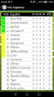 Info Liga Argentina - náhled