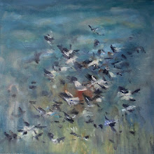 "Photo: Flock of geese III (24"" X 24"")"