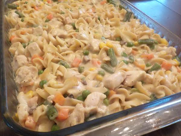 Reduced Fat, Chicken Noodle Casserole