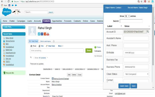 Salesforce Hidden Field Editor