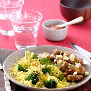 Babi Ketjap met gewokte broccolirijst