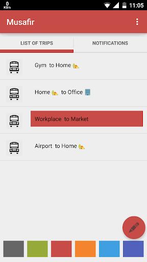 Musafir - Trip Tracker