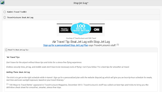 StopJetLag- screenshot thumbnail