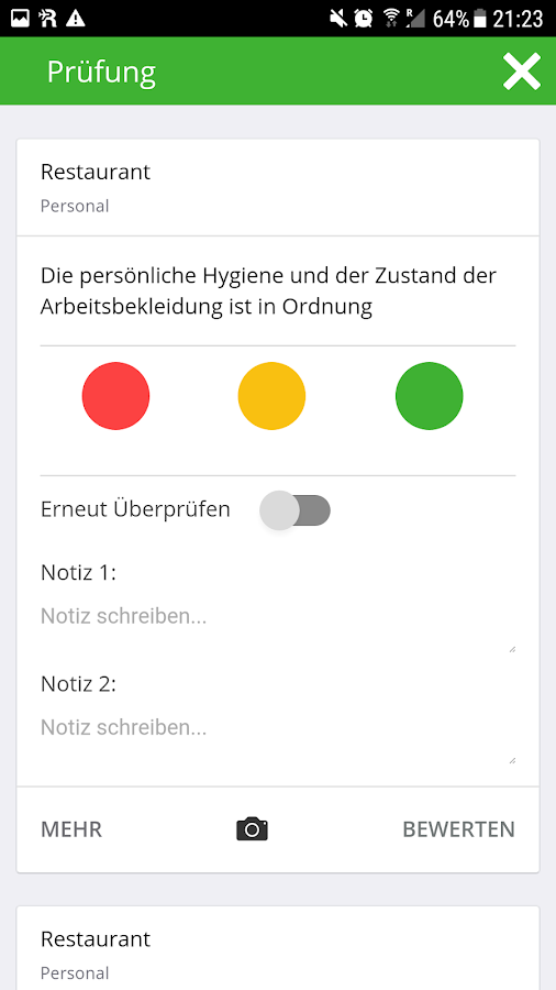 4-check Checklisten App – Screenshot