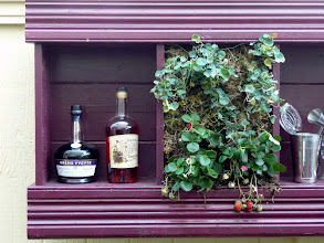 Photo: More of the inspiration for the color scheme of this garden--from these bottles of violet liqueur.