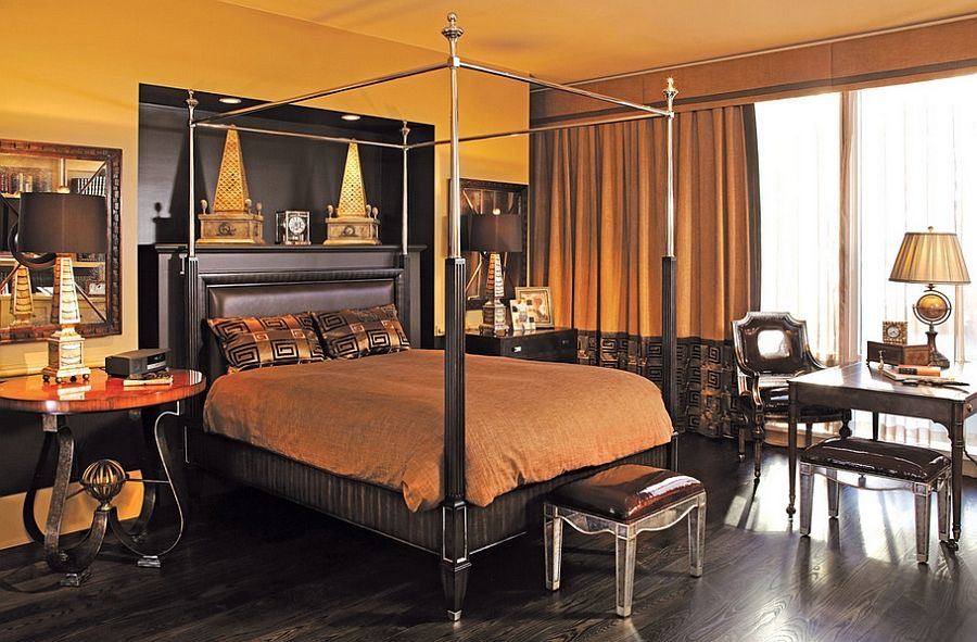 A Canopy Bed Adds Luxury to a Men's Bedroom Ideas