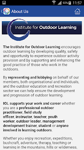 Institute for Outdoor Learning- screenshot thumbnail