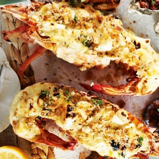 Oven Grilled Lobster with Parmesan Sauce