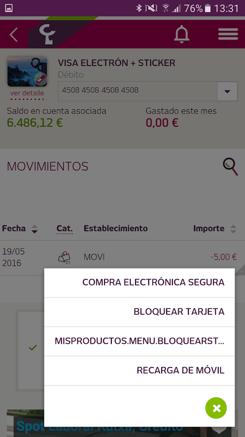 Banca Móvil Laboral Kutxa- screenshot