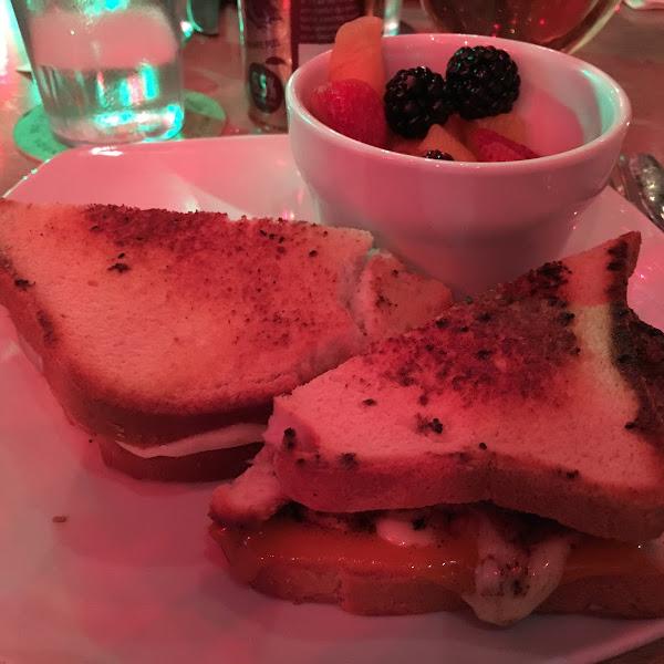 Burger on a gluten-free toast, amazing