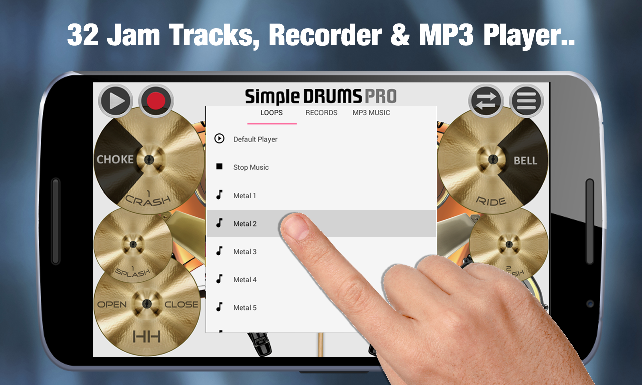 Simple Drums Pro - Drum Set- screenshot