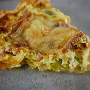 Leek, Bacon, and Raclette Cheese Pie