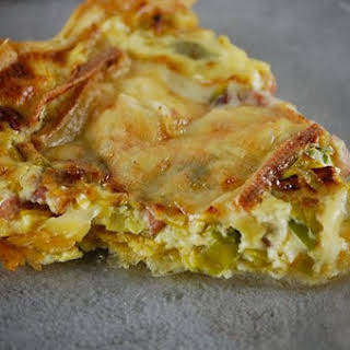 Leek, Bacon, and Raclette Cheese Pie.
