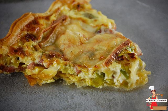 Leek, Bacon, and Raclette Cheese Pie Recipe