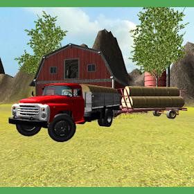классика ферма грузовик: сено