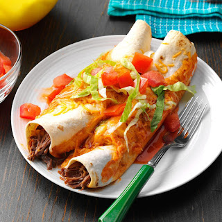 Slow-Cooked Beef Enchiladas.