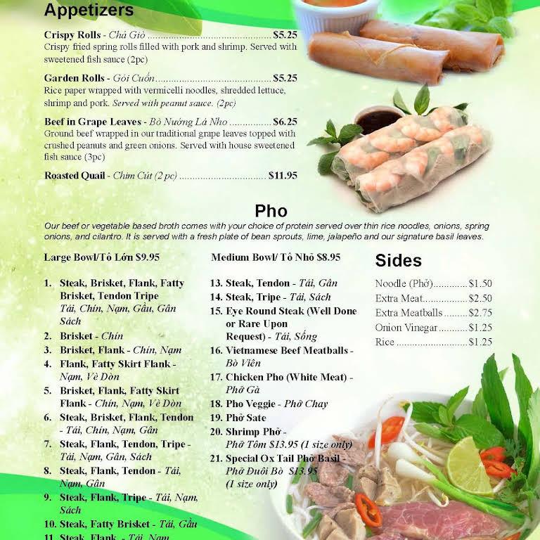 Pho Basil Vietnamese Restaurant In Frederick
