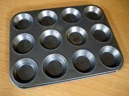 Preheat the oven to 180c/350f. Grease your patty tray ,you only need 9 spaces...