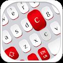 Red White Keyboard icon