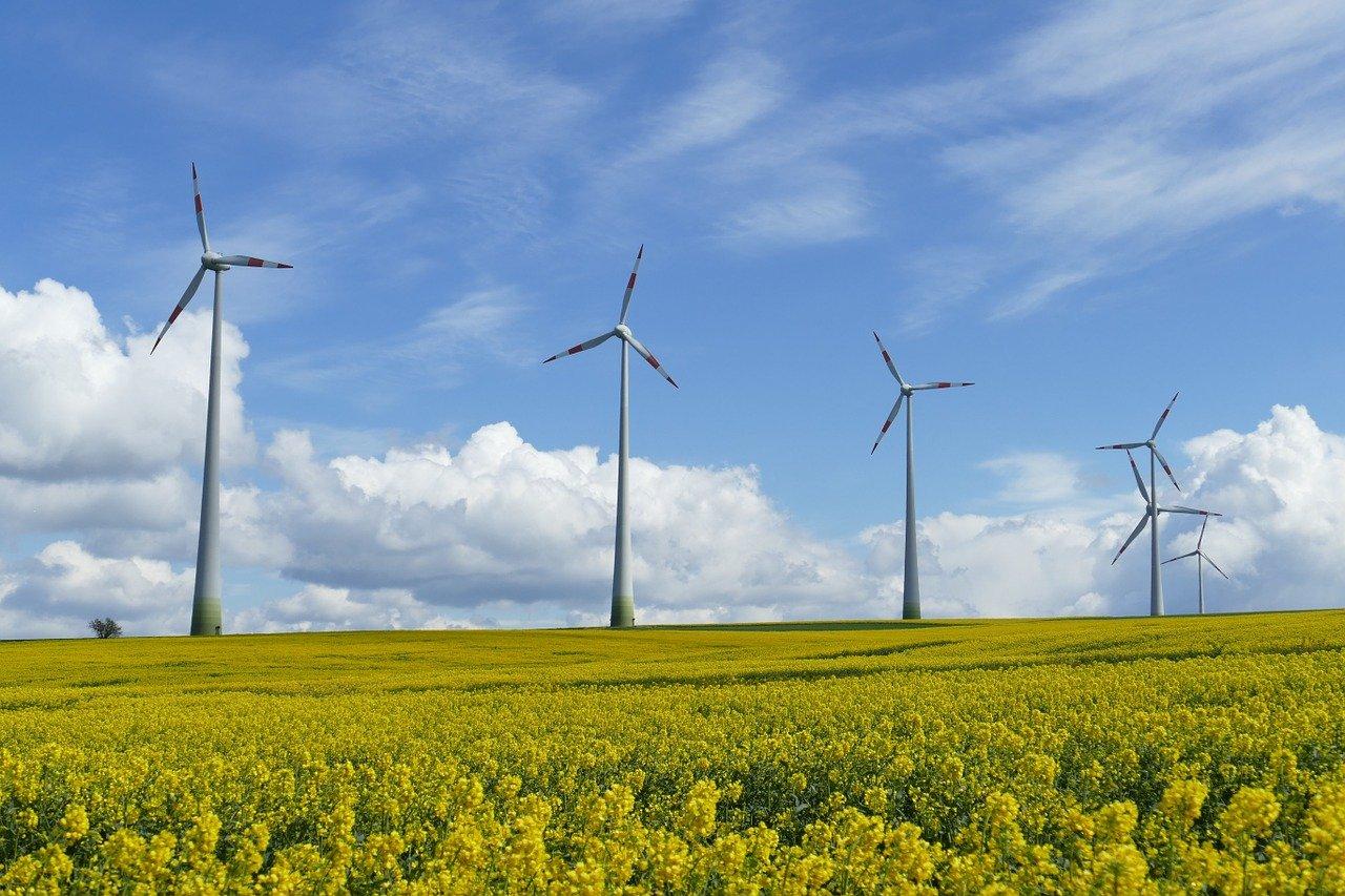 Moinhos de vento, usina eólica
