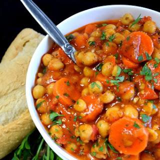 Chickpea Stew Vegan Recipes.