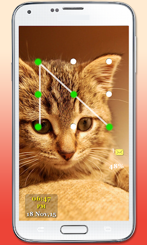 android Kitty Cat Pattern Lock Screenshot 4