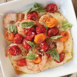 Herb Brined Shrimp with Polenta