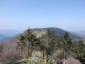 シャウヅ山を振り返り