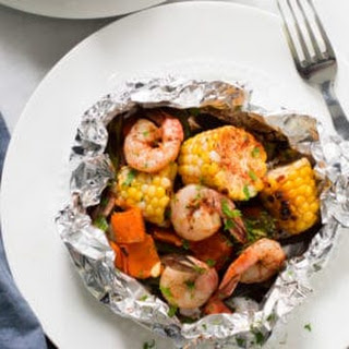 Shrimp Veggies Foil Packets Recipe