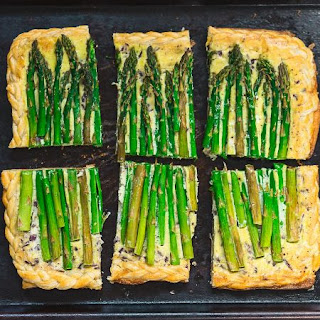 Spring Asparagus Puff Pastry Tart.