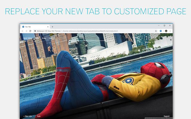 Spider Man Homecoming Custom New Tab