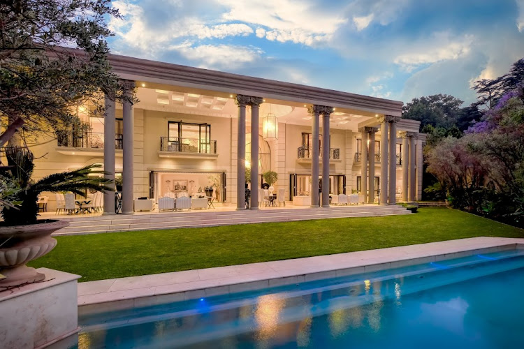 The outside of the Sandhurst property belonging to Zimbabwean businessman James Makamba that will be auctioned at the end of the month following a court order. Opening bids have been set at R25m.