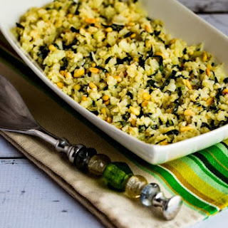 Cauliflower Rice with Basil, Parmesan, and Pine Nuts