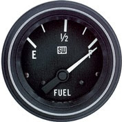 """Photo: This is the fuel gauge we installed on our CBL.  It is a Stewart Warner's Gauge, Fuel Level, Elec, HD, 240Ohm, 2-1/16""""  Part Number: 284M  Photo courtesy of http://www.sw-performance.com/  http://www.sw-performance.com/index.php?page=details&p=284M"""