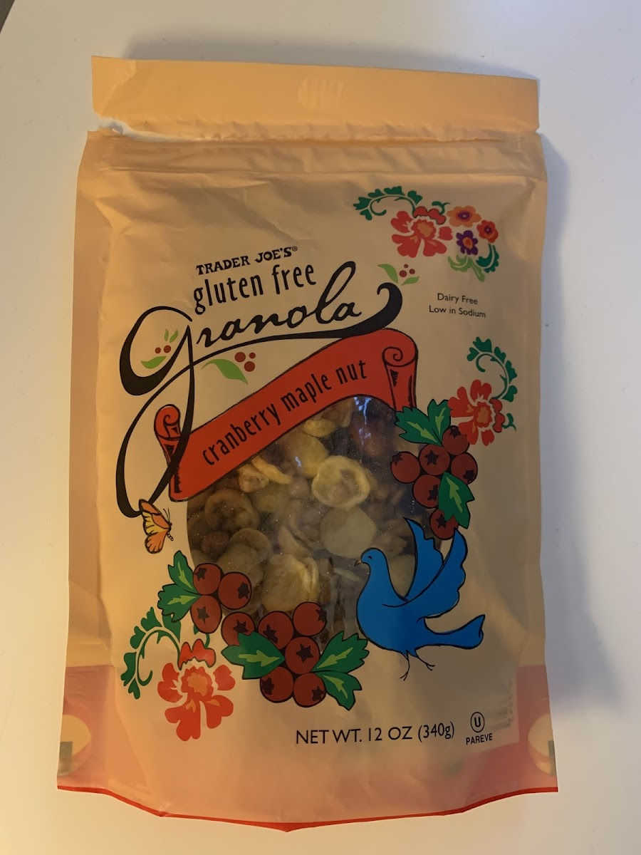 Gluten Free Granola-Cranberry Maple Nut