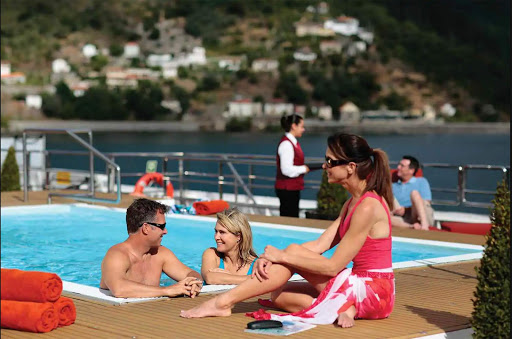 amadouro-pool-deck.jpg - Enjoy the pool deck (still a rarity on a river ship) during your AmaWaterways sailing through Portugal on AmaDouro.