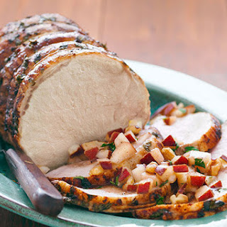 Roast Pork with Fresh Pear Salsa