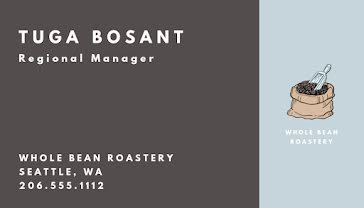 Bosanac Coffee Specialist - Business Card Template