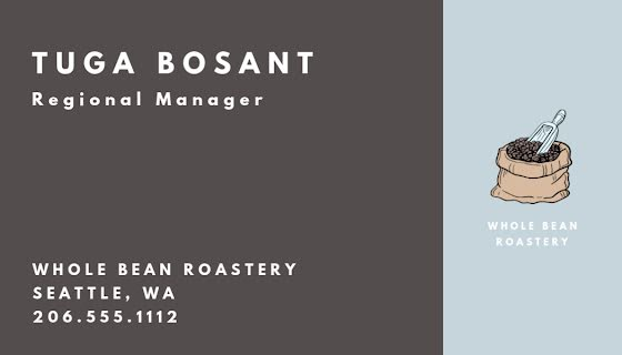 Bosanac Coffee Specialist - Business Card Template