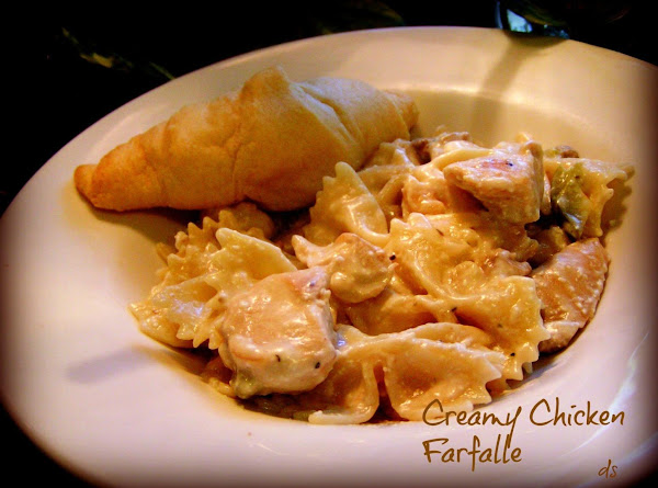 Chicken Farfalle In A Creamy Wine Sauce Recipe