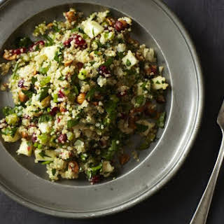 Quinoa Salad with Hazelnuts, Apple, and Dried Cranberries.